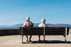 Elders sitting on a bench